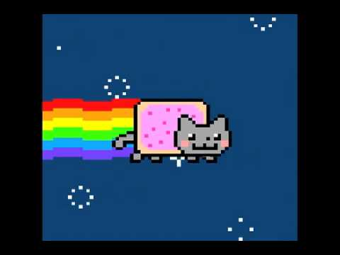 Nyan the Strawberry Pop Tart Rainbow Kitty Cat