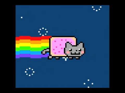 Nyan the Strawberry Pop Tart Rainbow Kitty Cat